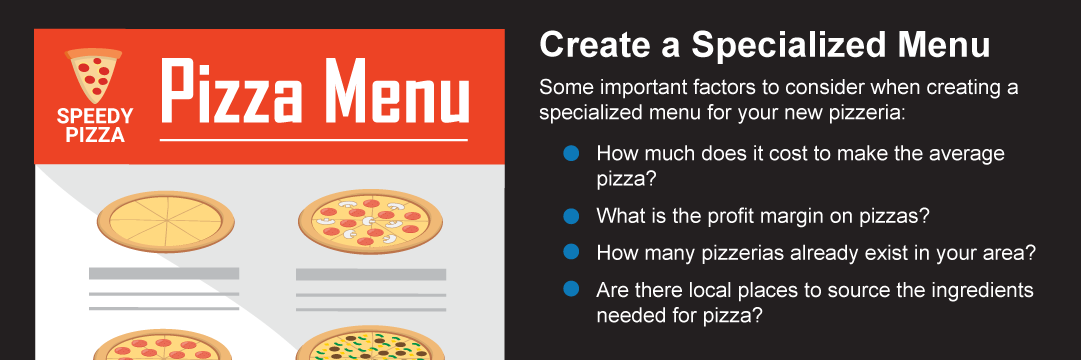 Questions to create a specialized menu