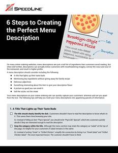 Creating the perfect menu description