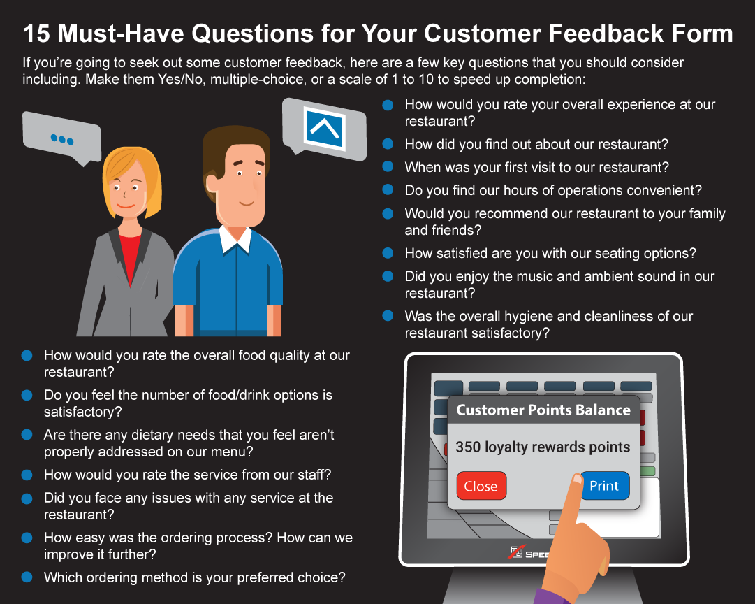 Checklist of must-have customer feedback form questions