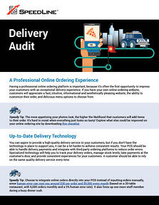 The first page of the delivery audit