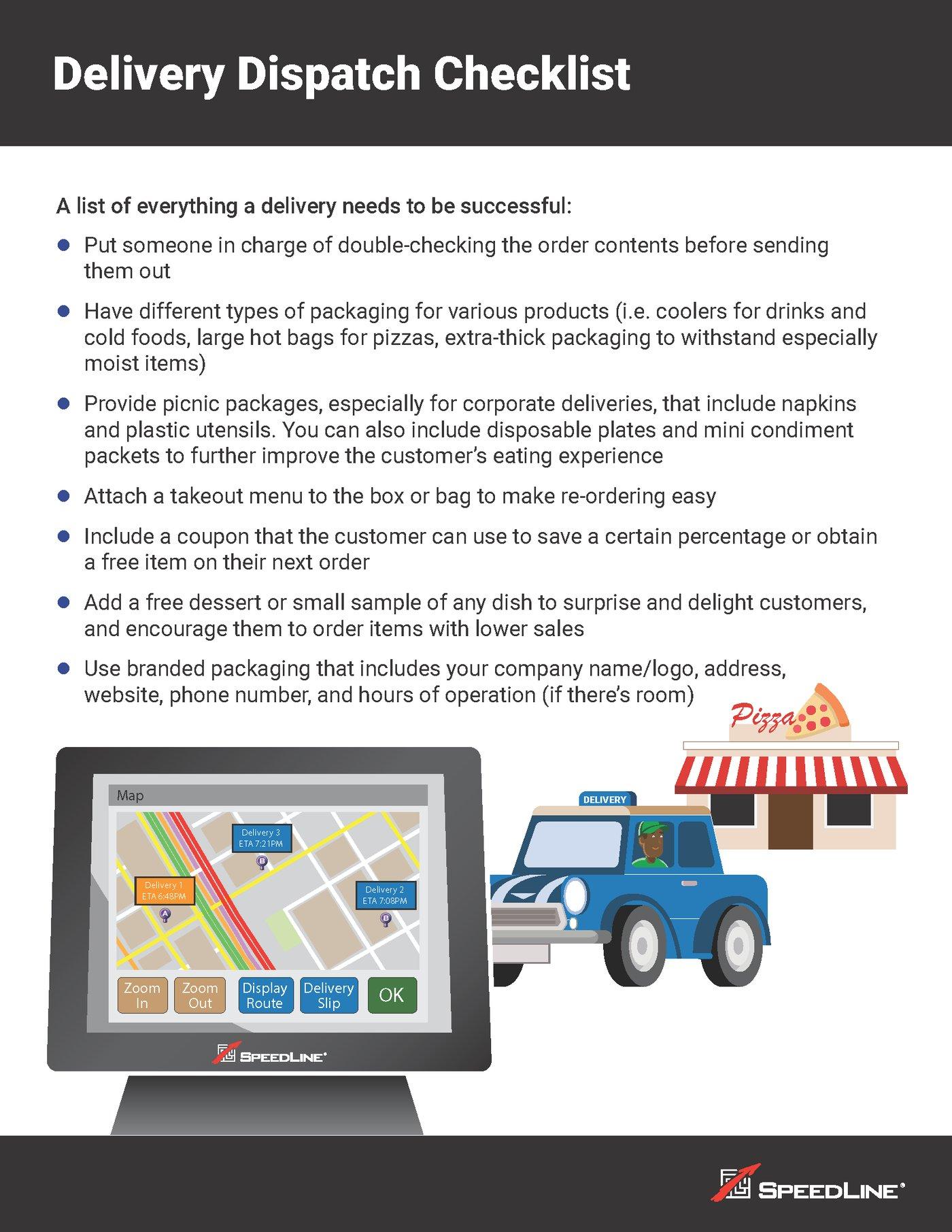 Delivery Dispatch Checklist