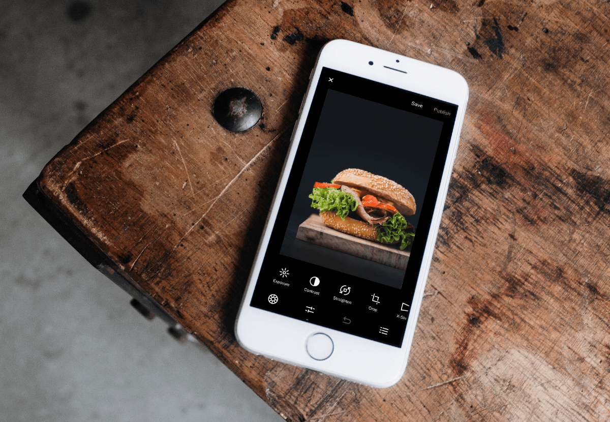 Editing Burger - Online Ordering Photography