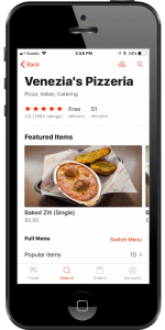 Venezia's Doordash profile shown on an iPhone
