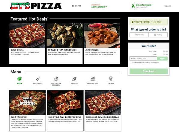 Jets-pizza-online-ordering-site
