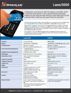 Lane3000 product sheet PDF preview
