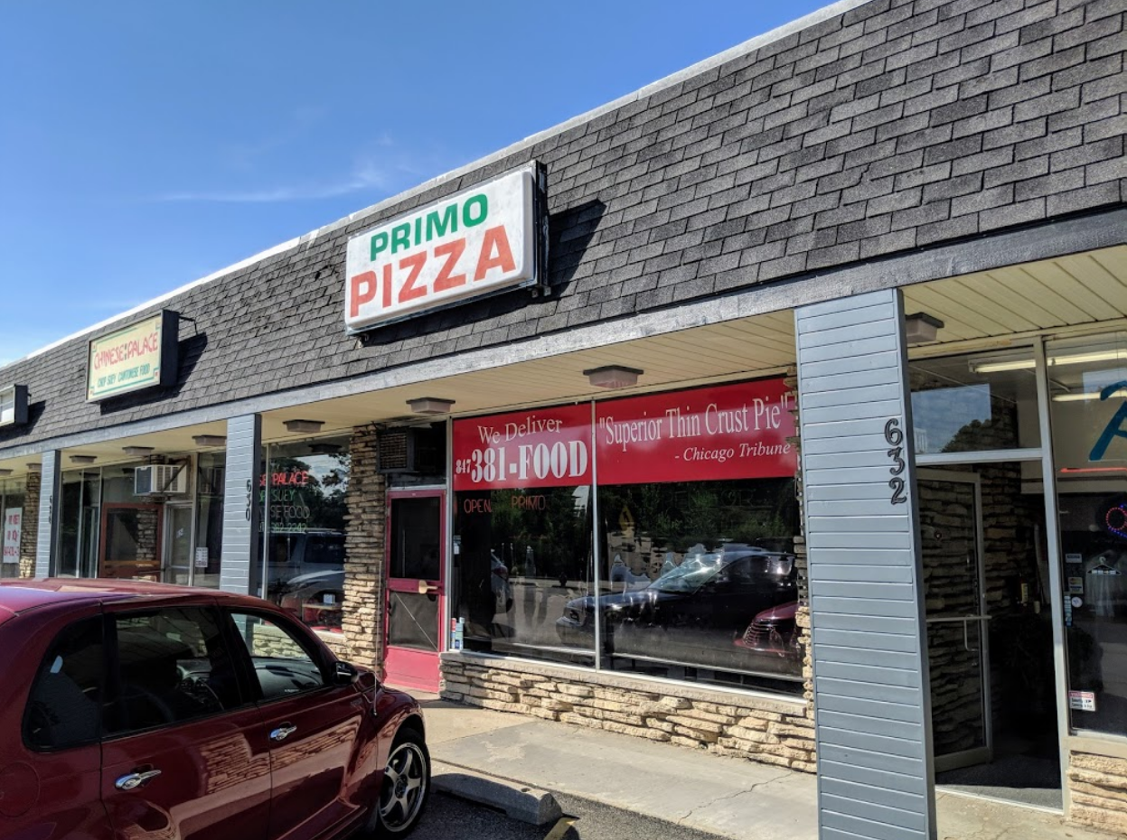 Exterior shot of the Primo Pizza restaurant