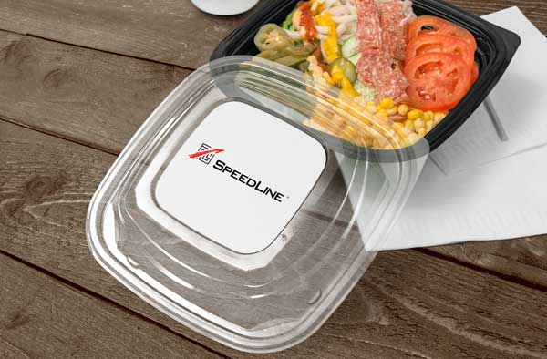 Delivery packaging for salads.
