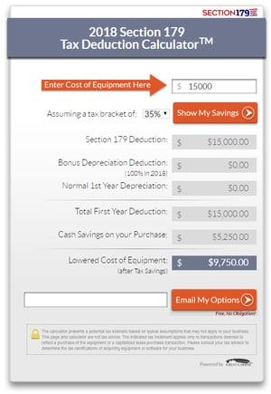 Secton 179 Tax Savings for Restaurant Equipment