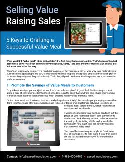 Selling Value Raising Sales