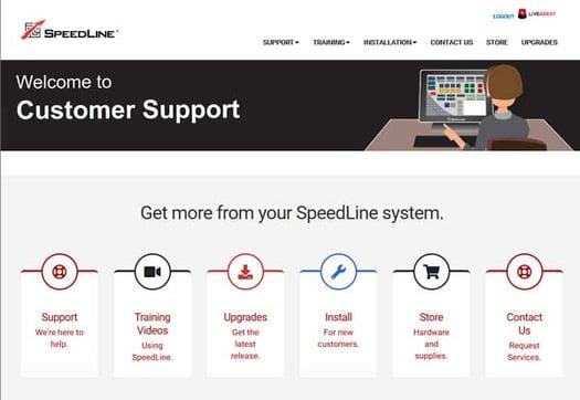 SpeedLine-Customer-Support-site