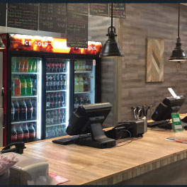 The front counter with their POS at Supremos