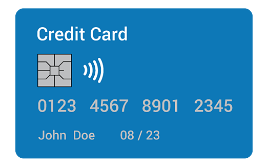 A credit card to illustrate PCI Compliance.