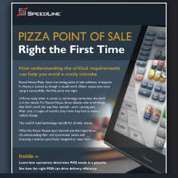 Pizza Point of Sale - Right The First Time