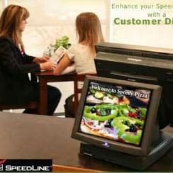 A customer display on a POS terminal