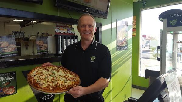 Grant Cole, Franchise Manager of Vern's Pizza in Saskatchewan.