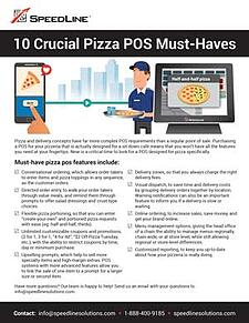 20 Crucial Pizza POS Must-Haves PDF