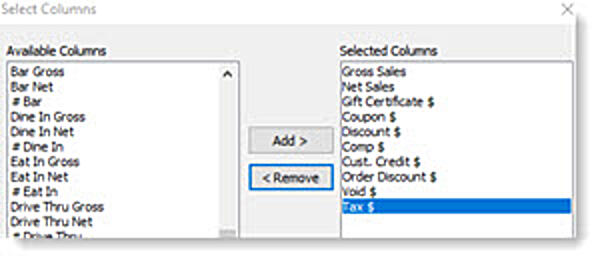 sales-summary-select-columns-window