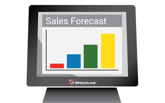 Sales forecast shown on the POS terminal